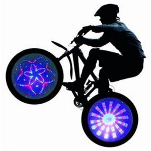 Accessoires lumineux pour rayon de vélo